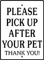 Please Pick Up Sign