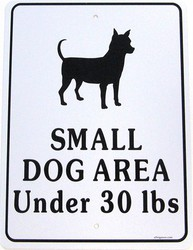 Small Dog Area Sign