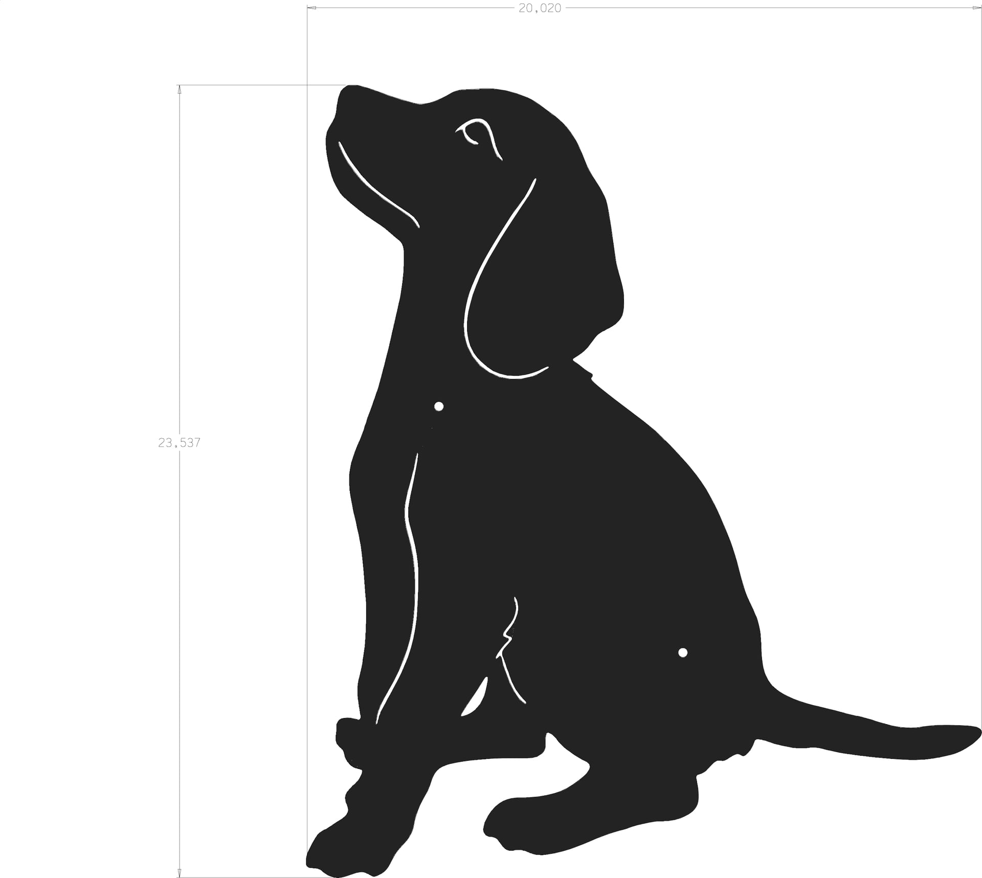 Dog sitting silhouette