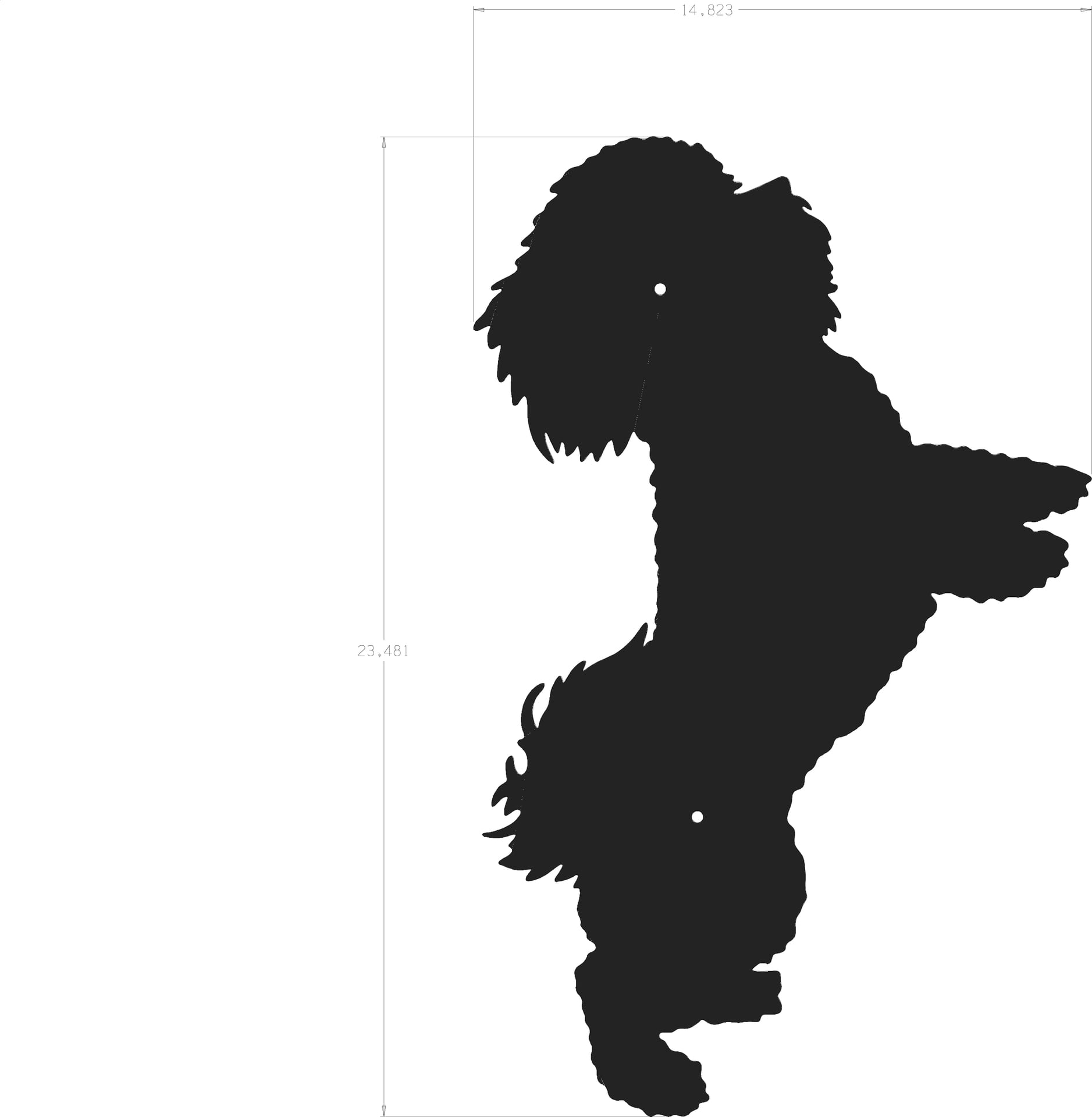 Wall Stickers Family Quotes Dog Silhouette Bichon Frise