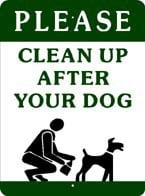 Sign: Please Clean Up After Your Dog