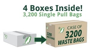 Single Pull Bags - Case of 3200