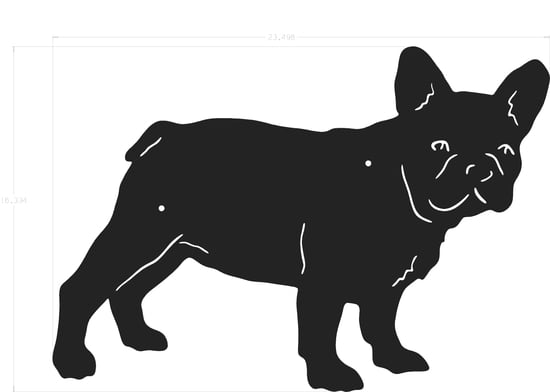 Silhouette - French Bulldog