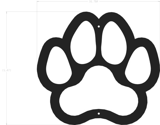 Silhouette - Dog Paw