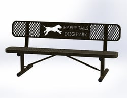 Basic Dog Paw Bench
