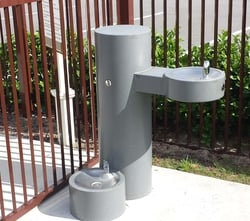 Barrier Free Fountain w/ Pet Bowl
