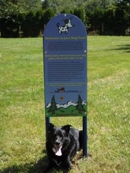 Custom Dog Park Rules Sign