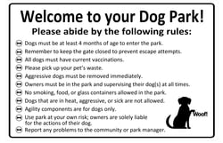 Site Furnishings & Amenities Standard Dog Park Rules Sign