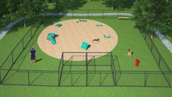Dog Park Packages/Kits Canine Courtyard Deluxe System