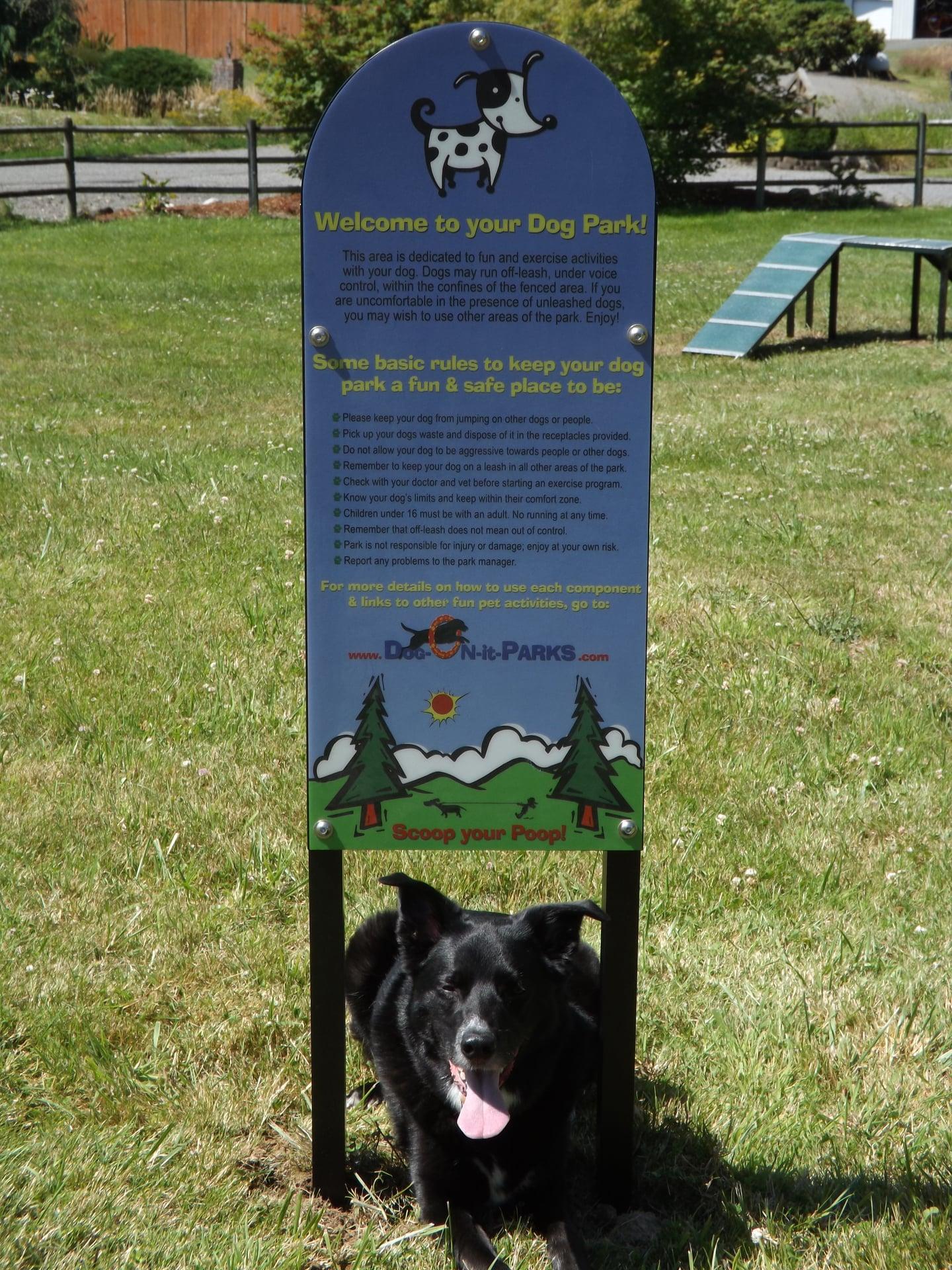Custom Dog Park Rules Sign