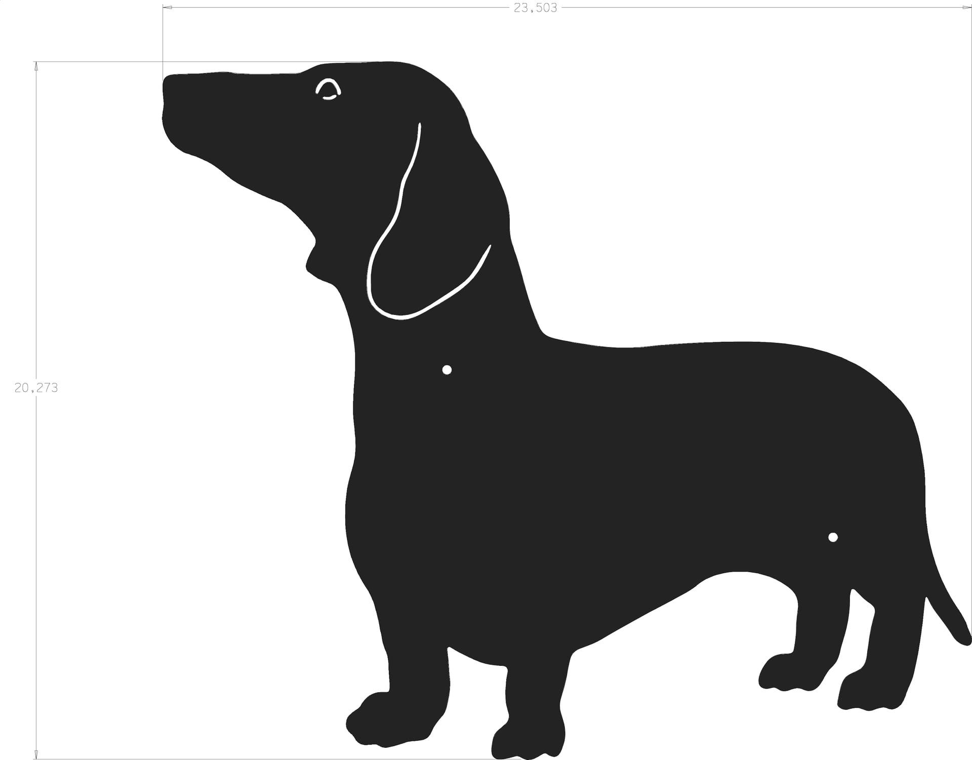 dog silhouette dachshund
