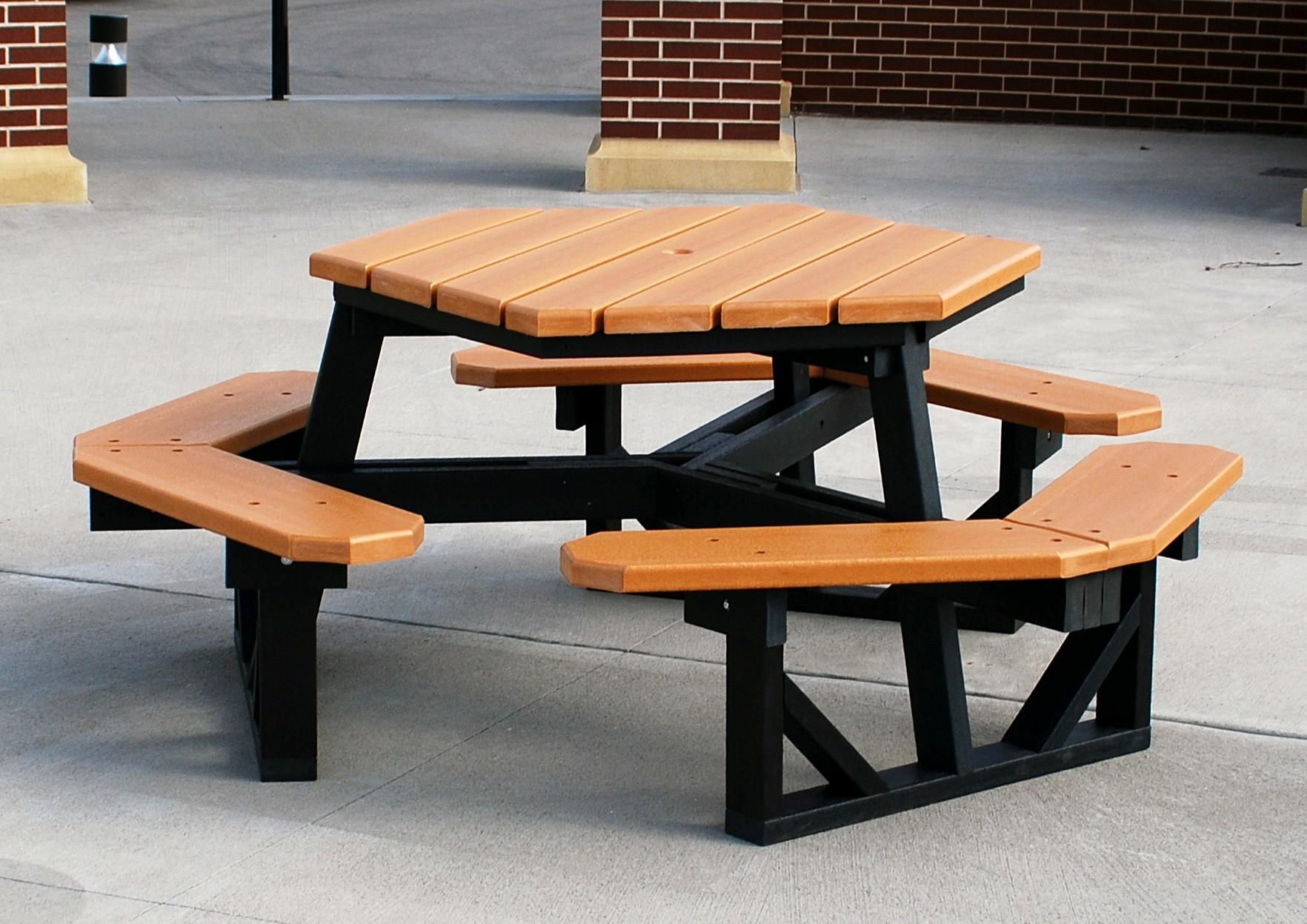 HDPE Hexagon Table - Hexagon picnic table for sale